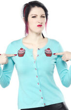 "Sourpuss ""Eat sh*t and die"" Have a Cupcake cardigan S M L Rockabilly Goth Punk"