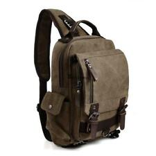 Canvas Unisex Sling Backpack One Strap Chest Bag Travel Sports Outdoor BSTY