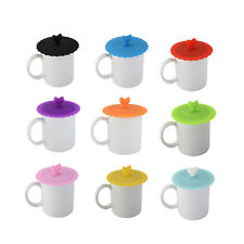 Stylish Silicone Leakproof Coffee Mug Suction Lid Cap Airtight Sealed Cup Cover
