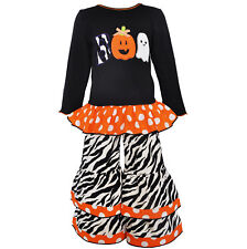 AnnLoren Girls Boutique Halloween Knit Tunic and Pant Clothing 12/18 mo - 9/10