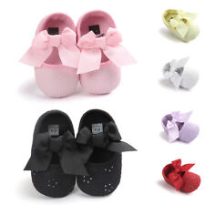 Baby Girls Bowknot Anti-slip Shoes Toddler Sneaker Soft Sole Princess Shoes Size