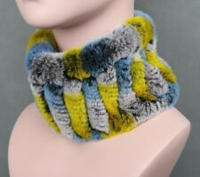 Women Fur Scarves Thick Knitted Neck Warmer Rings Head Bands Adult Fashion Wears