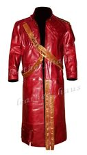 Chris Pratt Star Lord Guardians of Galaxy Genuine Leather Trench Coat Jacket 575