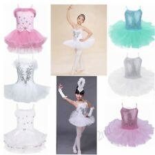 Girls Tutu Ballet Leotard Dance Dress Ballerina Unitard Dancewear Swan Costume
