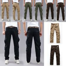 Mens Leisure Army Combat Military Pants Outdoor Cargo Trousers Leggings Overalls