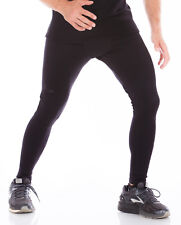 Kutting Weight Neoprene Sauna Suit Weight Loss All-Black Men's Exercise Tights