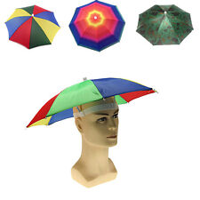 Outdoor Fishing Golf Sun Umbrella Cap Hat Headwear Foldable Cap Head