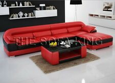 S2002 MODERN sofa, Italian leather lounge. couch. Black white red grey chaise
