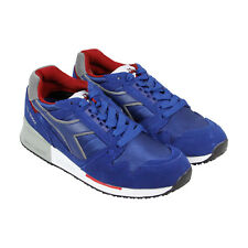 Diadora I C 4000 Nyl Ii Mens Blue Suede&Synthetic Athletic Running Shoes