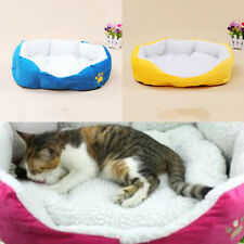 Small Pet House Plush Bed Dog Mattress Puppy Kennel Cat Bed Pads Deluxe Bolster