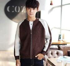 Stylish Men's Contrast Color Coat TShirts Jackets Knit Cardigan Sweaters Tops