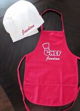 Personalized Child's Chef Cooking Apron Chefs Hat kids fun cute paint cook 2-6yr