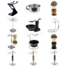 Mens Shaving Brush Safety Razor Holder Rack Stand Shave Mug Cup Bowl Set Kit