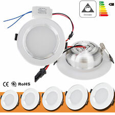 Dimmable LED Recessed Ceiling Panel Down Light 3W 5W 7W 9W 12W Fixture Lamp Bulb