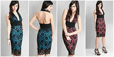 BNWT HONOR GOLD Lace New £55 Backless Bodycon Club Party Prom Mini Short Dress