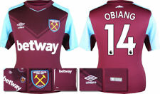 17 / 18 - ADIDAS ; WEST HAM HOME SHIRT SS / OBIANG 14 = ADULTS