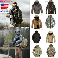 US Men Outdoor Waterproof Tactical Jacket Coat Shark Soft Shell Army Windbreaker