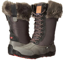 Womens PAJAR CANADA GENEVIEVE Deep Grey LEATHER LACE WINTER SNOW BOOTS 7-11 NEW