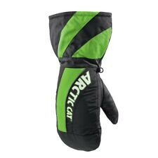 Arctic Cat Youth Cat Paw Insulated Durable Nylon Shell Mitts - Green - 5262-06_