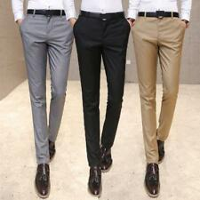 New Fashion Mens straight pants slim fit long  casual dress trousers hot sell