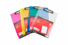 A4 5 Star Solid Plastic Clipboard Durable With Rounded Corners with pen holder