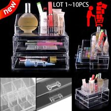 Makeup Nail Polish Display Stand Organizer Holder Rack Drawers Clear Acrylic Set