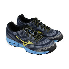 Mizuno Wave Kazan Womens Gray Textile Athletic Lace Up Running Shoes