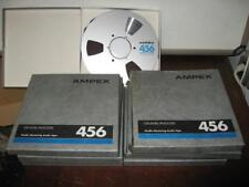 "Lot of 9 - Ampex Grand Master 456 10.5"" Metal Reel to Reel Tapes 1/2"" x 2500"