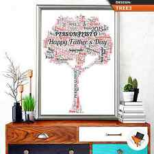PERSONALISED FAMILY TREE WORD ART FOR BIRTHDAY OR CHRISTMAS NAN MUM DAD UNCLE