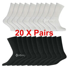 20 Pairs Soft Mens Cotton Rich Sport Socks Work Socks Size 6-11 Black White& Mix