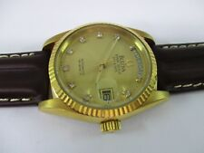 BULOVA SUPER SEVILLE DAY & DATE AUTOMATIC MENS WATCH stone indices