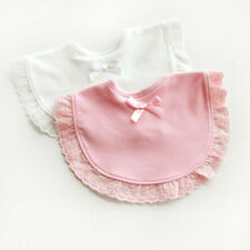 Newborn Towel Toddler Infant Baby Boy Girl Kids Bibs Saliva Bowknot Lace Towel