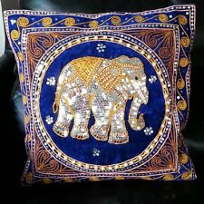 Pillow Cases Silk Thai Elephant Embroider Square Cover Sofa Bed Home Decor Gift
