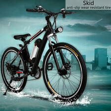 "New 26"" Folding Mountain Bike 7 Speed Bicycle Hybrid Suspension Sports 27 Speed"