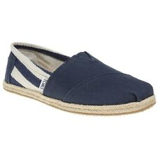 New Womens Toms Multi Blue University Canvas Shoes Slip On