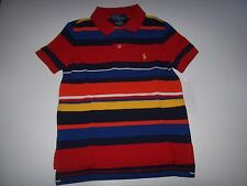 NEW POLO RALPH LAUREN pony red stripe shirt baby infant toddler boys 2T