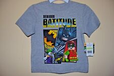 LEGO BATMAN & ROBIN-BOYS 4 thru 7-SERIOUS BATITUDE!-LICENSED SHORT SLEEVE-NWT