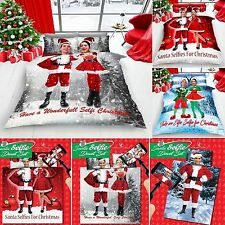 New Christmas Festive Quilt Cover Bed Set With Pillow Case or With  Sheet (GC)