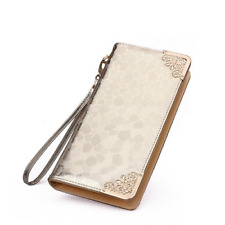 Ladies Fashion Stone Leather Wallet Pattern Design High Quality Long Purse Bag