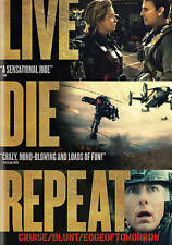 Live Die Repeat (DVD, 2014) Cruise Blunt Edge of Tomorrow Widescreen Brand New
