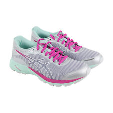 Asics DynafLyte Womens White Pink Mesh Athletic Lace Up Running Shoes