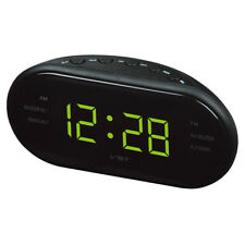 Digital LED 1.2'' Display Clock Radio AM/FM Time Table Alarm Clock US Plug