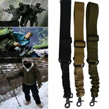 Tactical 1 One Single Point Adjustable Bungee Rifle Gun Sling System Strap