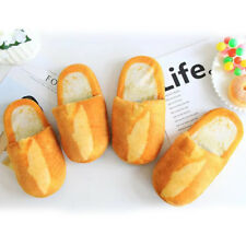1 Pair Bread bedroom shoes Bread floor shoes Simulation bread slippers