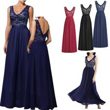 Sexy Women's Formal Floral Lace Vintage Bridesmaid Wedding Evening Party Dresses