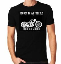 Mens Black Cotton You don't have to be old to be old school short sleeve t-shirt