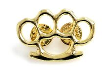 MMA Brass Knuckles Pin Badge