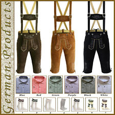 Trachten German Bavarian Oktoberfest Kniebund Lederhosen 3Pcs Package / Set Gp44