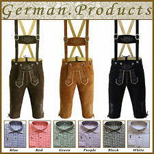 Trachten German Bavarian Oktoberfest Kniebund Lederhosen 3Pcs. Package / Set Gp1