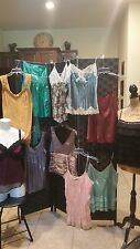 Cami tops assorted silk fabrics+ more lace embellish  medium and large U choose